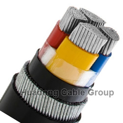 1KV 4 Core 50mm2, 70mm2, 95mm2 Aluminum XLPE SWA Cable
