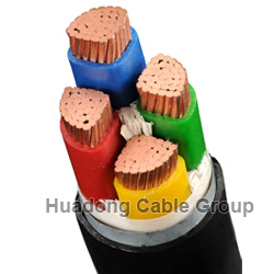 LSF 0.6-1KV 4 Core 120~630 mm2 NYY PVC Power Cable